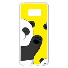 Cute Pandas Samsung Galaxy S8 Plus White Seamless Case