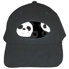 Cute Pandas Black Cap