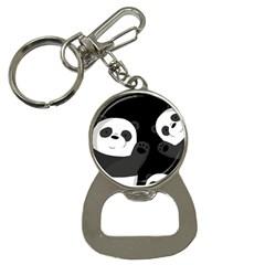 Cute Pandas Button Necklaces