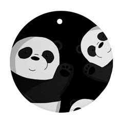 Cute Pandas Round Ornament (two Sides)