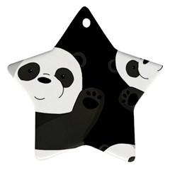 Cute Pandas Star Ornament (two Sides)
