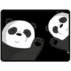 Cute Pandas Fleece Blanket (large)