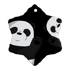 Cute Pandas Snowflake Ornament (two Sides)