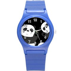 Cute Pandas Round Plastic Sport Watch (s)