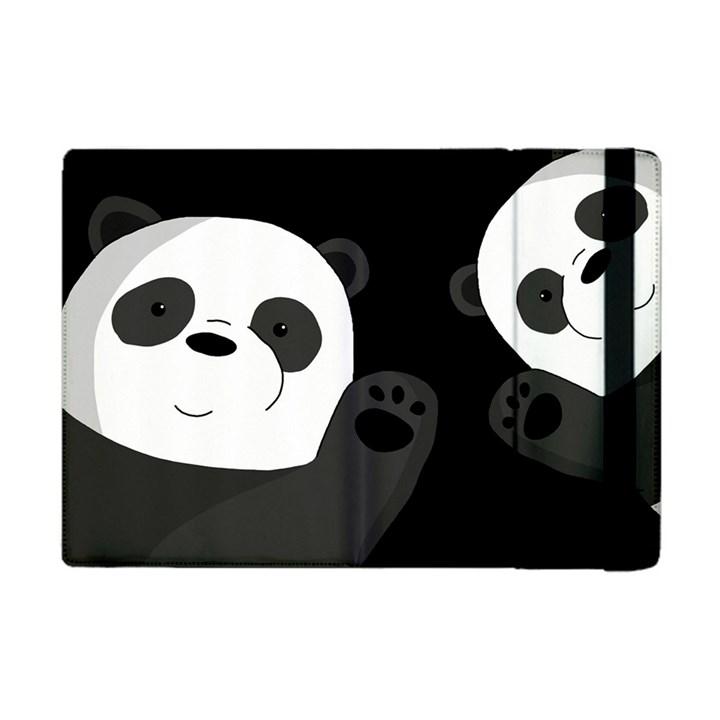 Cute pandas Apple iPad Mini Flip Case