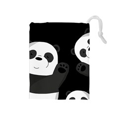 Cute Pandas Drawstring Pouches (medium)