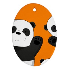 Cute Pandas Ornament (oval)