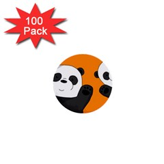 Cute Pandas 1  Mini Buttons (100 Pack)
