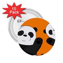 Cute Pandas 2 25  Buttons (10 Pack)
