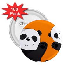 Cute Pandas 2 25  Buttons (100 Pack)