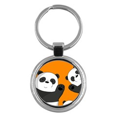Cute Pandas Key Chains (round)