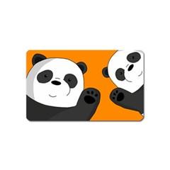 Cute Pandas Magnet (name Card)