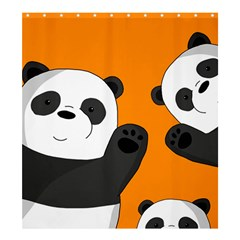 Cute Pandas Shower Curtain 66  X 72  (large)