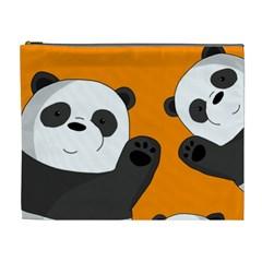 Cute Pandas Cosmetic Bag (xl)