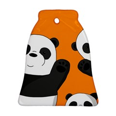 Cute Pandas Bell Ornament (two Sides)