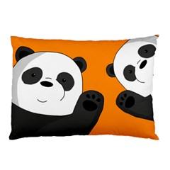 Cute Pandas Pillow Case (two Sides)