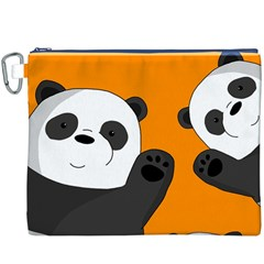 Cute Pandas Canvas Cosmetic Bag (xxxl)