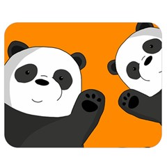 Cute Pandas Double Sided Flano Blanket (medium)