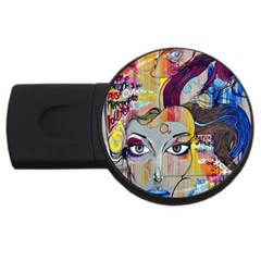 Graffiti Mural Street Art Painting Usb Flash Drive Round (2 Gb)