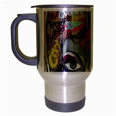 Graffiti Mural Street Art Painting Travel Mug (silver Gray)