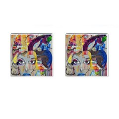 Graffiti Mural Street Art Painting Cufflinks (square)