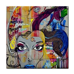 Graffiti Mural Street Art Painting Face Towel