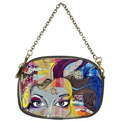 Graffiti Mural Street Art Painting Chain Purses (one Side)