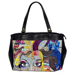 Graffiti Mural Street Art Painting Office Handbags (2 Sides)