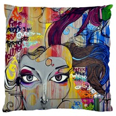 Graffiti Mural Street Art Painting Large Cushion Case (two Sides)
