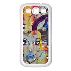 Graffiti Mural Street Art Painting Samsung Galaxy S3 Back Case (white)