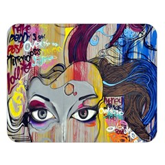 Graffiti Mural Street Art Painting Double Sided Flano Blanket (large)