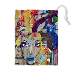 Graffiti Mural Street Art Painting Drawstring Pouches (extra Large)
