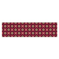 Kaleidoscope Seamless Pattern Satin Scarf (oblong)