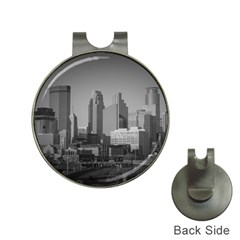 Minneapolis Minnesota Skyline Hat Clips With Golf Markers