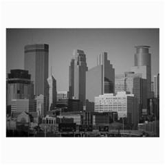 Minneapolis Minnesota Skyline Large Glasses Cloth (2 Side)
