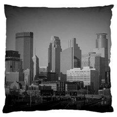 Minneapolis Minnesota Skyline Large Flano Cushion Case (two Sides)