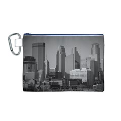 Minneapolis Minnesota Skyline Canvas Cosmetic Bag (m)