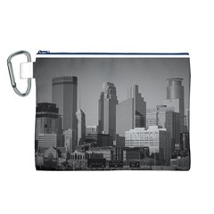 Minneapolis Minnesota Skyline Canvas Cosmetic Bag (l)