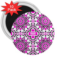 Oriental Pattern 3  Magnets (10 Pack)