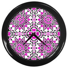 Oriental Pattern Wall Clocks (black)