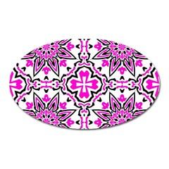 Oriental Pattern Oval Magnet
