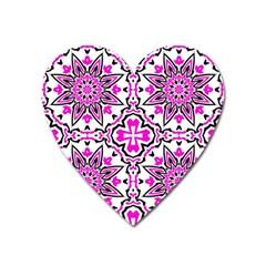 Oriental Pattern Heart Magnet