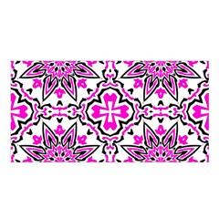 Oriental Pattern Satin Shawl