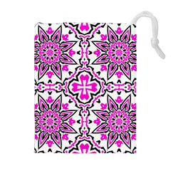 Oriental Pattern Drawstring Pouches (extra Large)