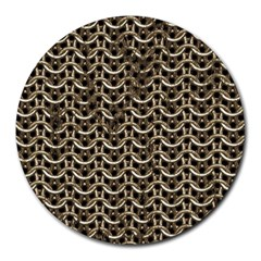Sparkling Metal Chains 01a Round Mousepads