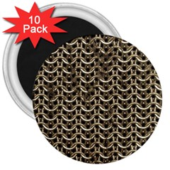 Sparkling Metal Chains 01a 3  Magnets (10 Pack)
