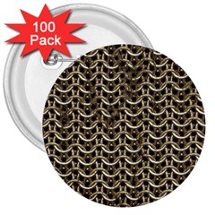 Sparkling Metal Chains 01a 3  Buttons (100 Pack)