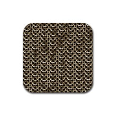 Sparkling Metal Chains 01a Rubber Coaster (square)