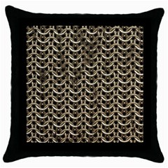 Sparkling Metal Chains 01a Throw Pillow Case (black)