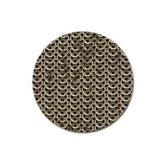 Sparkling Metal Chains 01a Magnet 3  (round)